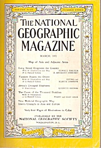 The National Geographic magazine-  March 1951 (Image1)