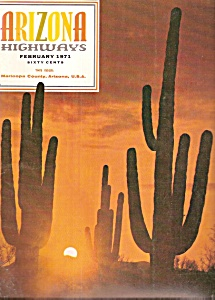 Arizona Highways -  February 1971 (Image1)