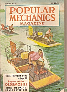 Popular Mechanics -  August 1954 (Image1)