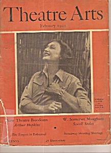 Theatre Arts Magazine- February 1945 Broadway Uso