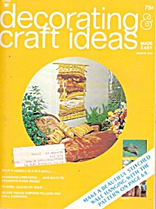 Decorating Craft Ideas Made Easy - March 1973