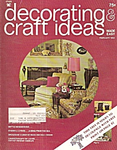 Decorating Craft Ideas Made Easy- February 1973