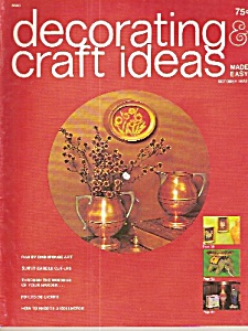 Decorating Craft Ideas Made Easy - October 1972
