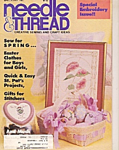 Needle & Thread - March/april 1987