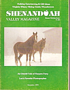Shenandoah Virginia Valley magazine -  November 1979 (Image1)