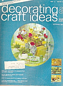 Decorating Craft Ideas - September 1973