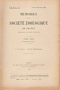 Memoires De La Societe Zoologique De France - Aug.20, 1