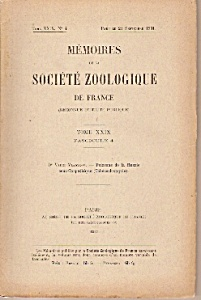 Memoires de la Societe Zoologique de France - Sept.1931 (Image1)