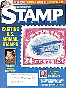 Scott monthly stamp magazine -  February 2008 (Image1)