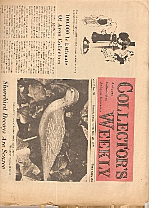 Collector's Weekly Newspaper - October 20, 1970 (Image1)