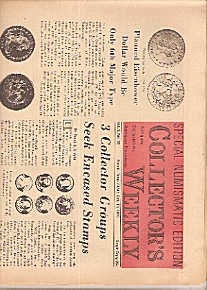 Collector's weekly newspaper -  October 13, 1970 (Image1)