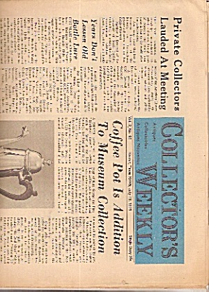 Collector's Weekly Newspaper - July 13, 1971
