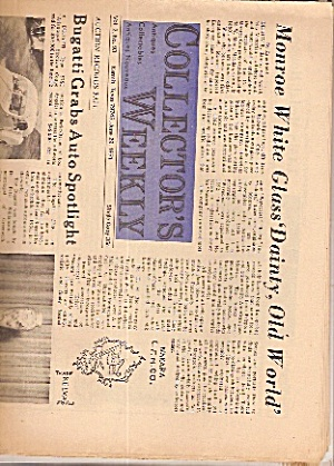Collector's weekly newspaper - June 29, 1971 (Image1)