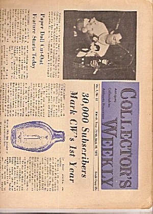 Collector's Weekly Newspaper - Sept. 15, 1970