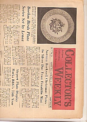Collector's Weekly newspaper -  Sept. 8, 1970 (Image1)
