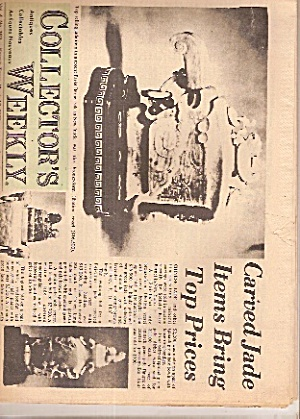 Collector's Weekly Newspaper - March 13, 1973