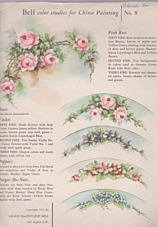 Flower Designs - Grace Bell - Vintage - 1954 - Oop
