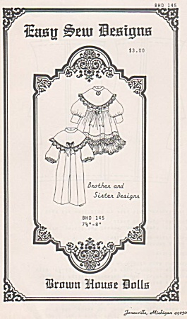 Easy Sew - Boy-girl Dressy Outfits - 7-8in -