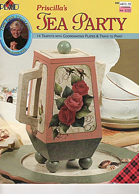 Priscilla Hauser - Tea Party - Paint Book - Oop
