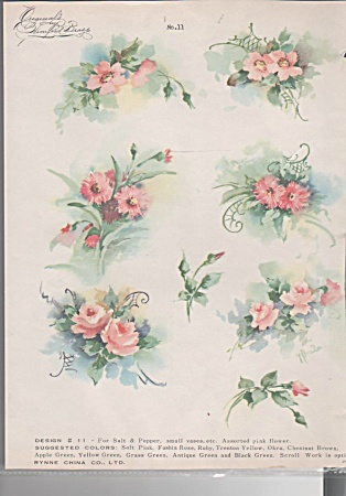 Vintage - Winifred Brase - China Paint - Pink