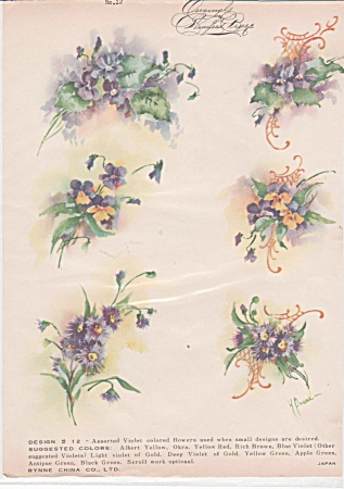 Vintage - Winifred Brase - China Paint - Purple