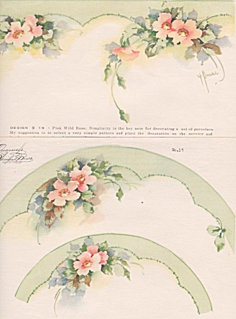 Vintage - Winifred Brase - China Paint - Plates