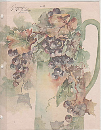 Winifred Brase - China Paint - Grapes - Vintage