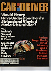 Car and Driver- August 1970 (Image1)