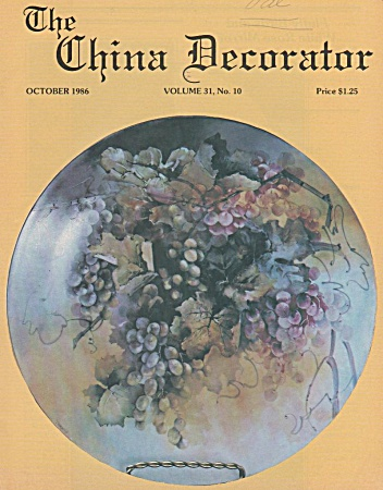 VINTAGE~CHINA DECORATOR~OCTOBER~1986 (Image1)