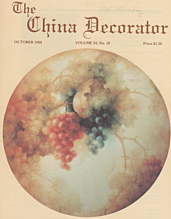 VINTAGE~CHINA DECORATOR~OCTOBER~1988 (Image1)