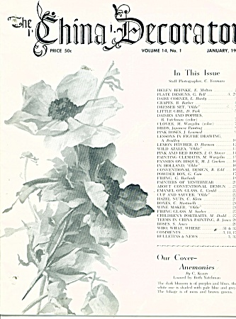China Decorator Jan.1969 Great Articles