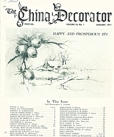 VINTAGE~THE CHINA DECORATOR ~JANUARY 1971 (Image1)