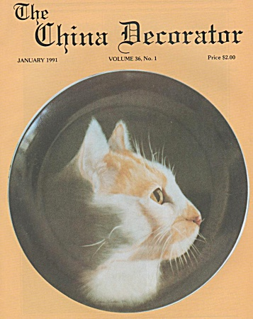 VINTAGE~THE CHINA DECORATOR~JANUARY, 1991 (Image1)