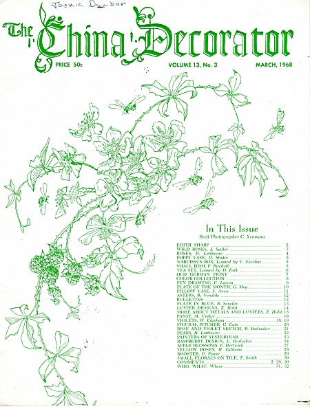 VINTAGE~CHINA DECORATOR~MARCH 1968~OOP (Image1)