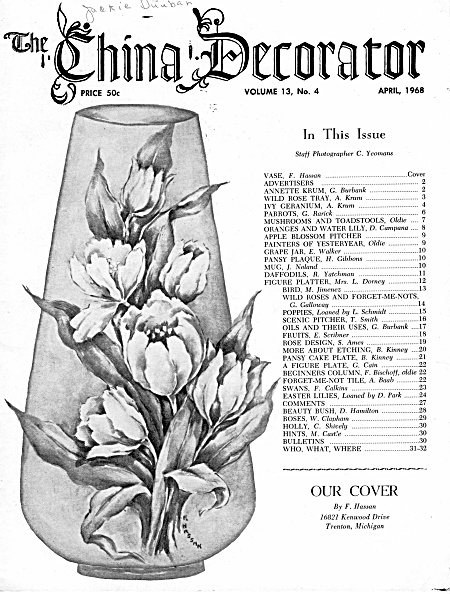 VINTAGE~CHINA DECORATOR~APRIL~1968 (Image1)