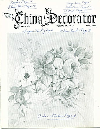The China Decorator Vintage May,1966