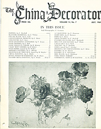 Vintage - The China Decorator - July - 1969