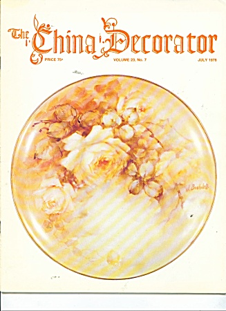 The China Decorator -july,1978 Vintage