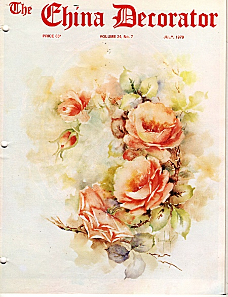 VINTAGE~CHINA DECORATOR~JULY~1979 (Image1)