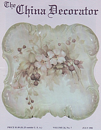 Vintage - The China Decorator - July - 1981