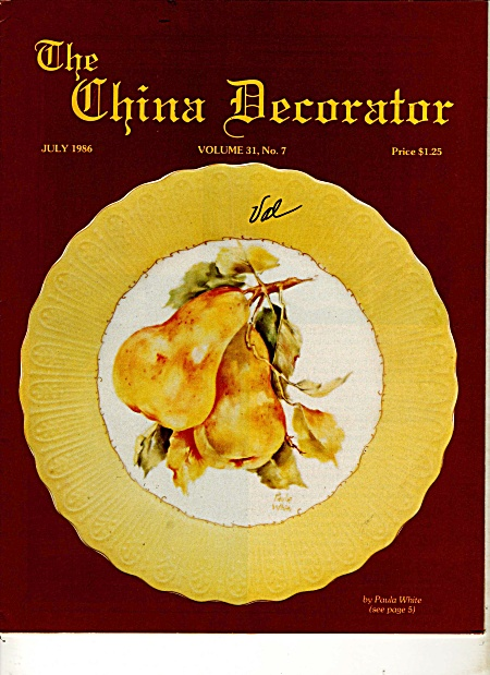 Vintage - China Decorator - July - 1986
