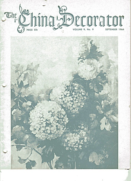 VINTAGE~THE CHINA DECORATOR~SEPTEMBER~1964 (Image1)