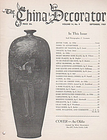 Vintage - The China Decorator - September 1969