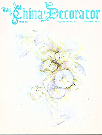 Vintage The China Decorator September - 1974