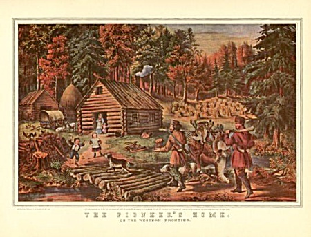 Currier And Ives The Pioneers Home