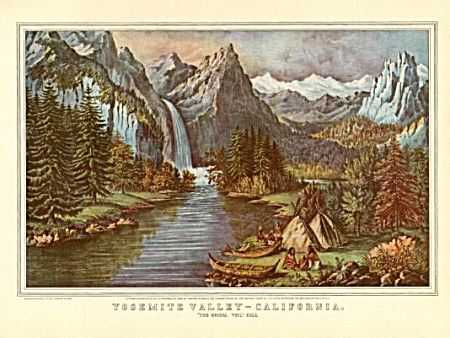 Currier And Ives Yosemite Valley Ca