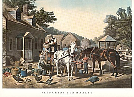 Currier And Ives Preparing For Market