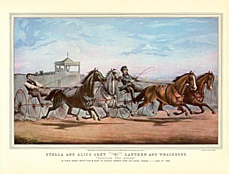 Currier And Ives- And Horses Run Faster