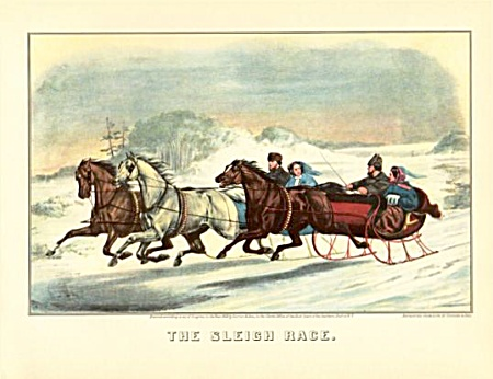 Currier And Ives The Sleigh Ride