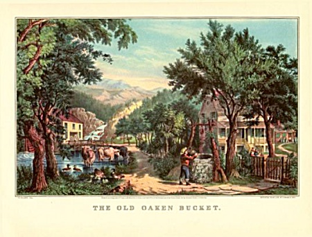 Currier And Ives- The Old Oaken Bucket